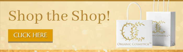 shop for organic cosmetics sign