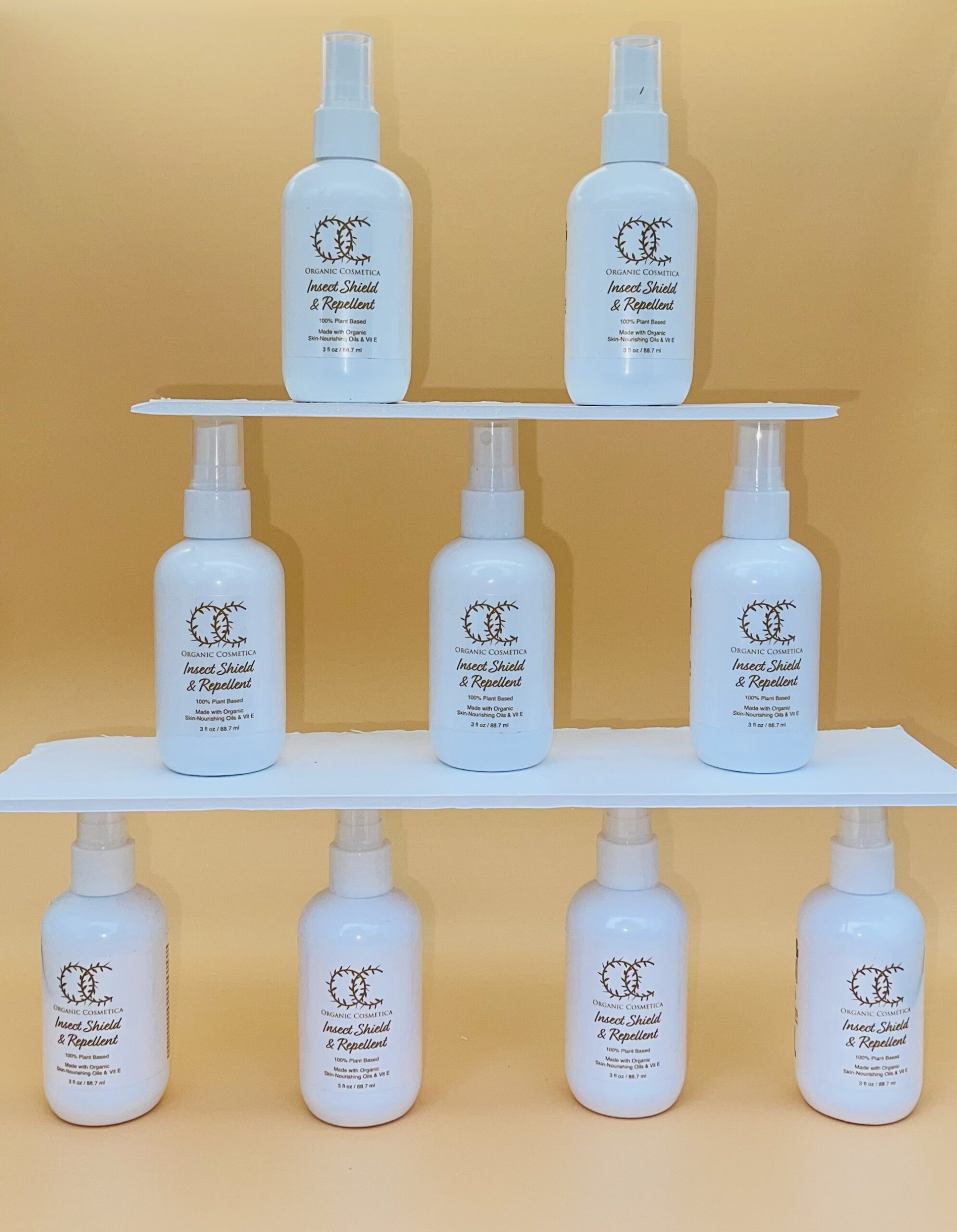 bottles of Moisturizing Organic Insect Repellent