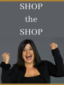 happy shopper woman - shop the shop