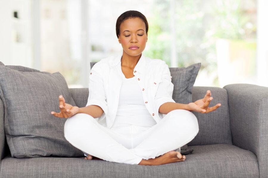 woman doing yoga skin care tips